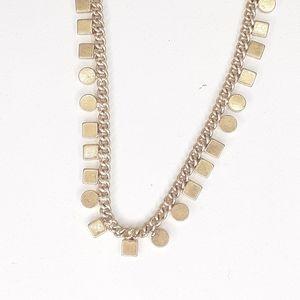 Madewell Jewelry Geometric Goldtone Necklace